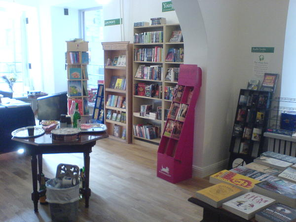 Interior of the new English Bookshop
