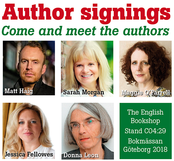 Author signings at the book fair