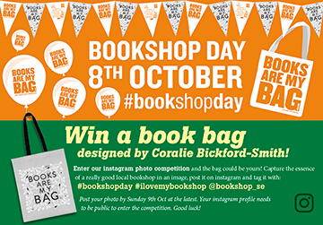 Bookshopday on Saturday 8th October