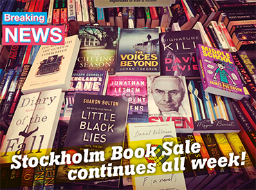 Book Sale continues in Stockholm