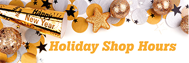 New Year's Holiday Shop Hours