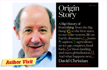 Author visit: David Christian – Origin Story