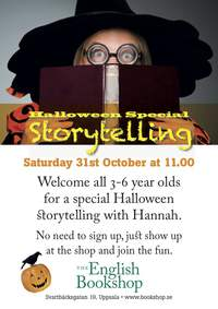 Halloween storytelling at The English Bookshop, 2015