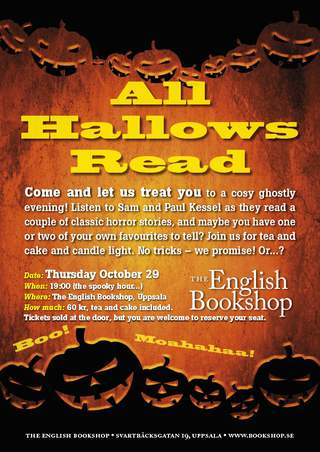 All Hallows Read, The English Bookshop 2015