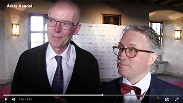 Video interview at the award ceremony at Uppsala Castle