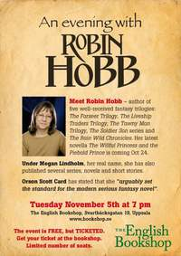 Robin Hobb evening at The English Bookshop Uppsala