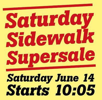Saturday Sidewalk Supersale 20140614, Uppsala English Bookshop
