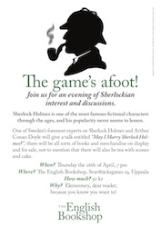 Sherlock Holmes evening in The Uppsala English Bookshop