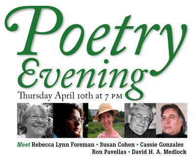 Poetry Evening Stockholm April 10, 2014