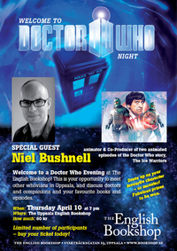 Doctor Who Night at The Uppsala English Bookshop, 20140410