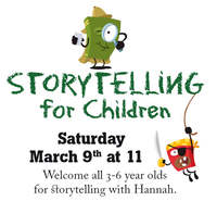 Storytelling for Children att The Uppsala English Bookshop, at March 9th at 11 o'clock.