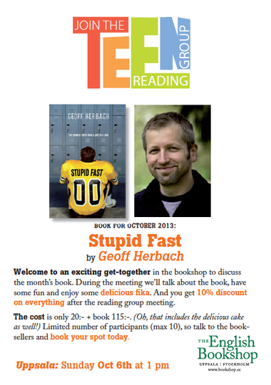 Teen Reading Group – Stupid Fast by Geoff Herbach