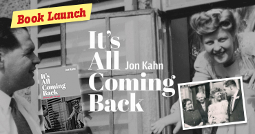 Book launch: It's all coming back – Jon kahn