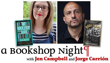 A Bookshop Night with Jen Campbell & Jorge Carrión