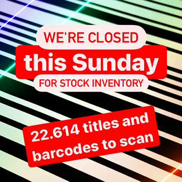 Closed Sunday 31 January for stock inventory