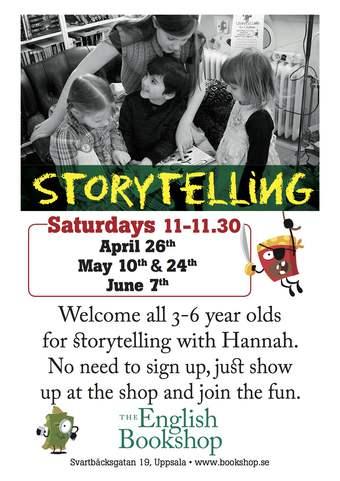 Storytelling for Children at The English Bookshop in Uppsala, Stockholm